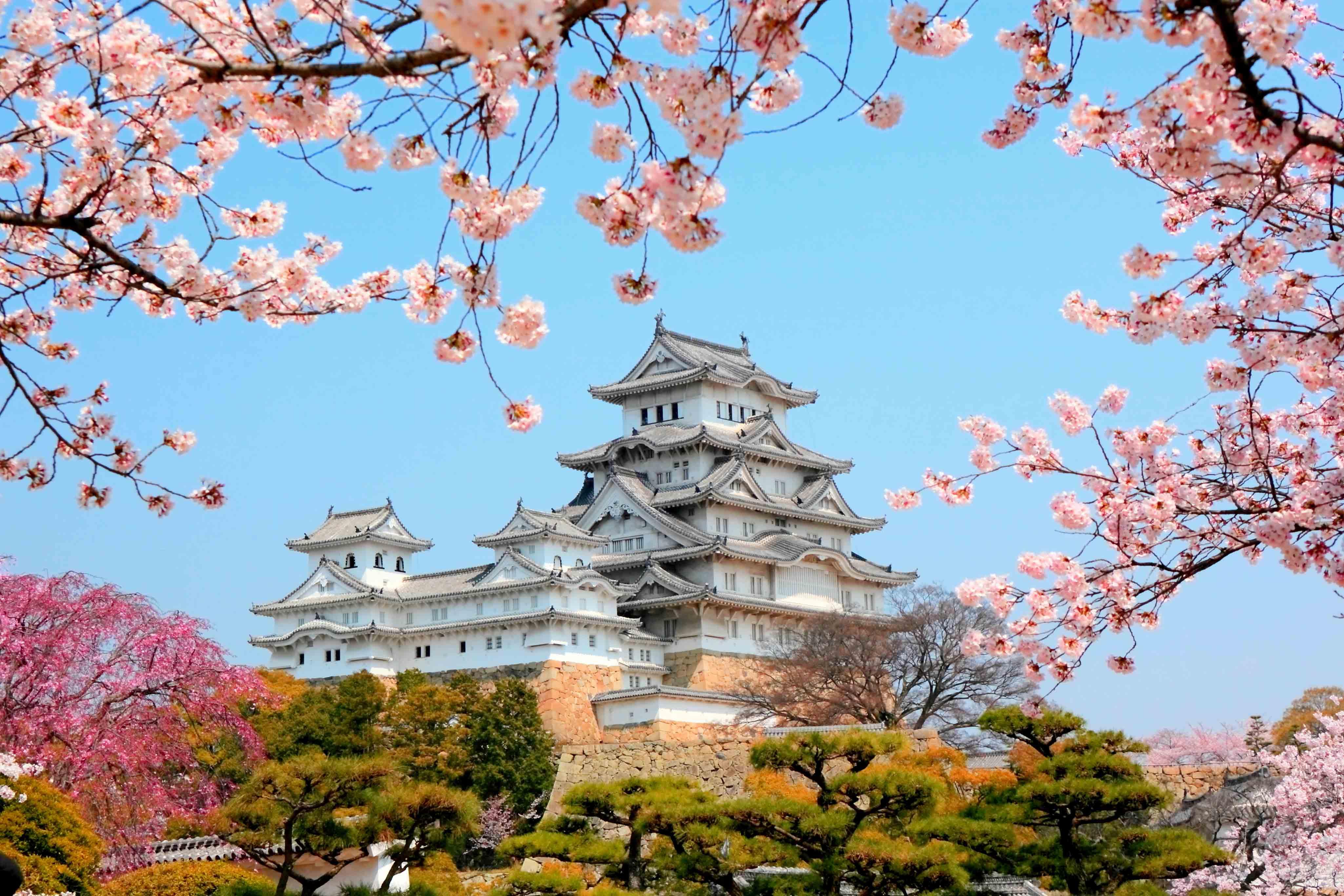 Японские замки обои на рабочий стол