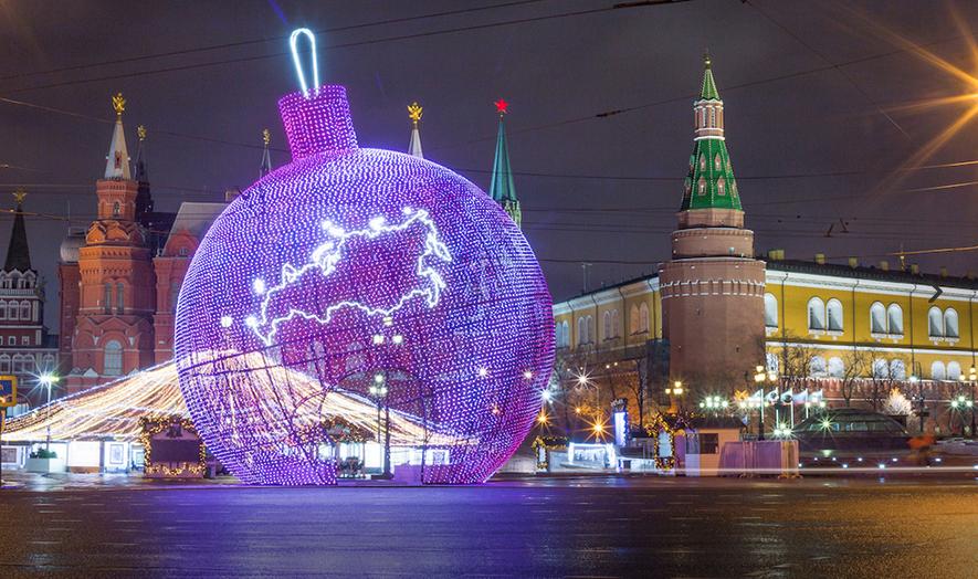 Самый большой в мире елочный шар установят в Москве
